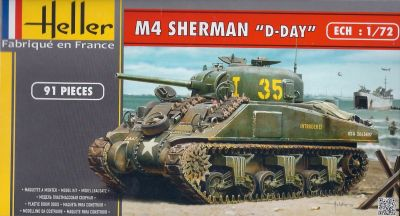 1/72 Heller M4 Sherman D-Day